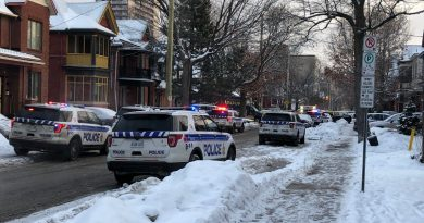 Ottawa police are on scene on Gilmour Street in the Centretown area following a Monday morning shooting. Courtesy Twitter