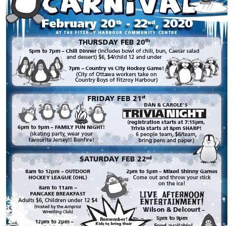 Fitzroy Winter Carnival schedule