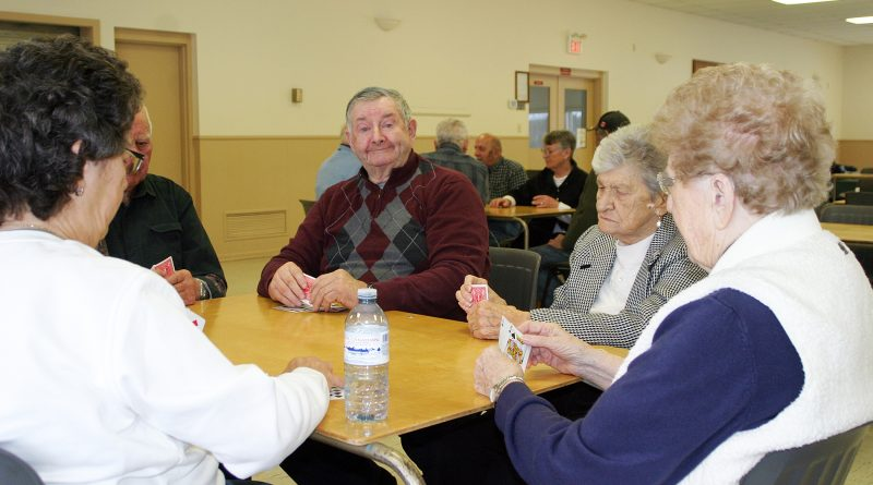 Dunrobin's Leo Muldoon was one of 40 players to take in some euchre in Kinburn last Thursday. Photo by Jake Davies