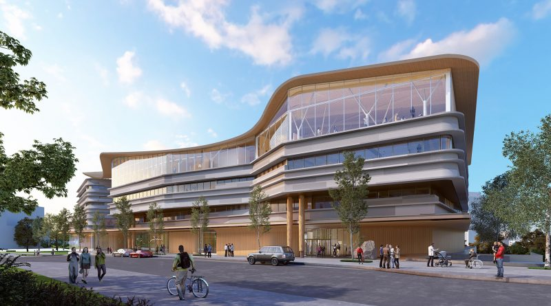 An artist's rendering of the new Ottawa Public Library and Archives Canada joint facility. Courtesy City of Ottawa