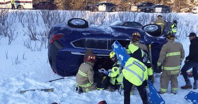 Carp's Station 64 Heavy Rescue team extricate two patients following a two-vehicle crash on Hwy. 417 yesterday. Courtesy Bill Bell