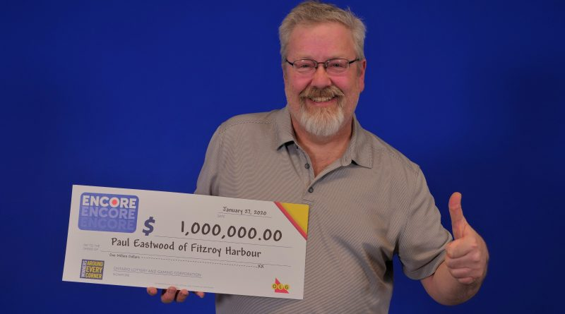 Fitzroy Harbour's Paul Eastwood says the million-dollar win will allow him to retire and play more music. Courtesy OLG