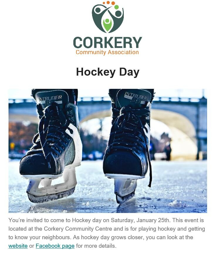 Hockey Day in Corkery poster