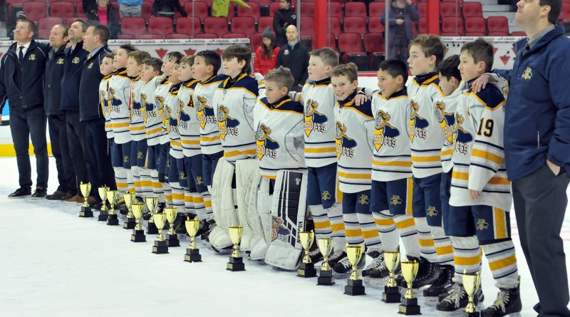 The West Carleton Crusaders major atom A team took home the 2019 Bell Capital Cup championship Monday night. Courtesy Crusader team manager Tanya McNeely