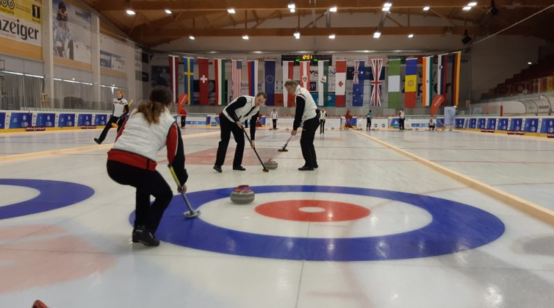 Action from the 2020 Winter World Masters Games curling tournament. Courtesy the WWMG