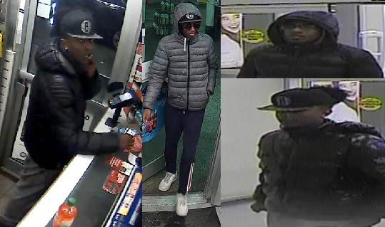 Ottawa police are looking for these suspects, seen using stolen debit cards allegedly taken from a west end party in January. Courtesy the OPS