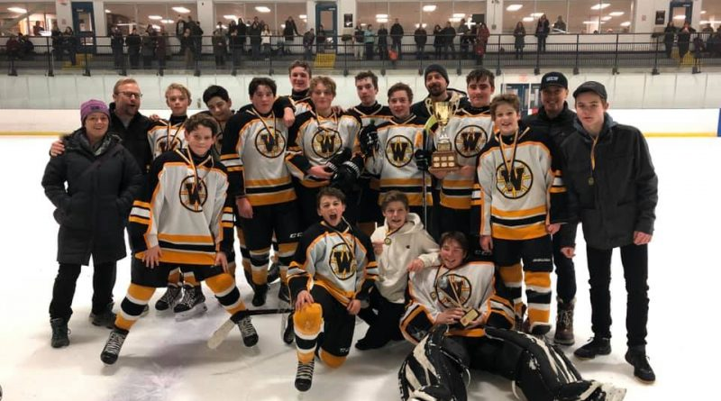 The West Carleton bantam B1 Warriors won last weekend's Kanata Bantam Charity Tournament. Courtesy the West Carleton Warriors