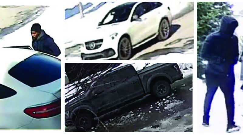 Vehicles and suspects wanted in relation to a string of February break and enters. Courtesy the OPS