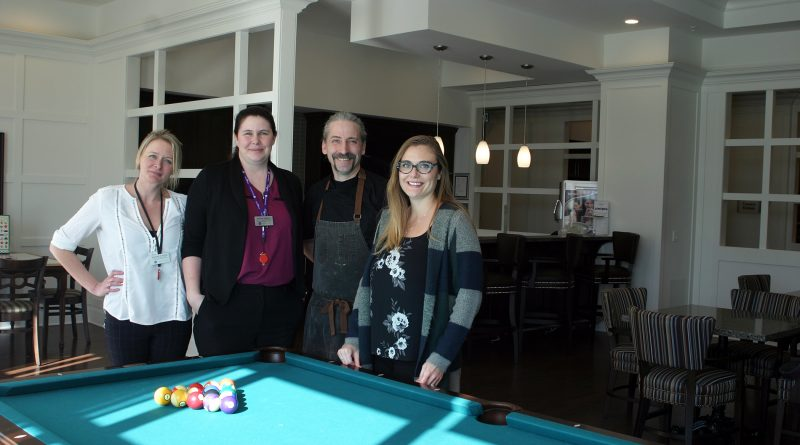 From left, the Carp Commons' Rebekah Gunning, Melanie Webber, executive chef Matthew Brearley and Michelle Hebert. Photo by Jake Davies