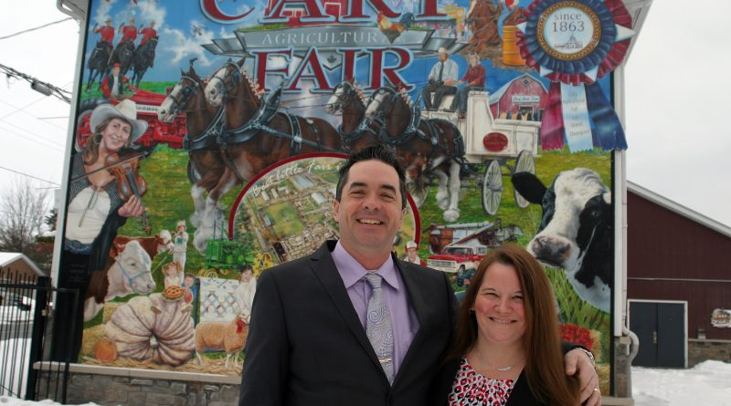 The Carp Fair 2020 President of Agriculture Ryan Foley and President of Homecraft Patricia Boyd. Photo by Jake Davies