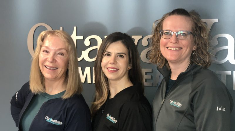 Welcome to Dr. Amy Toderian (centre) who has joined Almonte General Hospital and the Ottawa Valley Family Health Team's Family Medicine Obstetrics team. Shown are (l-r): Dr. Ursula McGarry, Dr. Amy Toderian and Dr. Julie Stewardson. Courtesy AGH