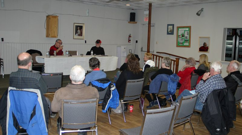 About 15 Galetta community members attended last Monday's meetings where Coun. Eli El-Chantiry spoke on area specific issues. Photo by Jake Davies