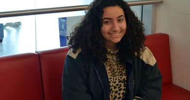 WCSS student council co-president Hoda Osman is one of the lead organizers of the Battle of the Grades. Photo by Michelle Russett