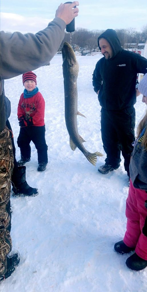 Hunter C. and his first prize fish. Courtesy Shadine Robinson