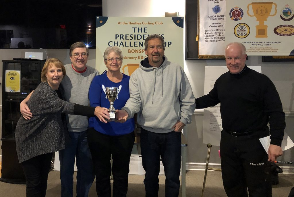 The Senior Mixed Champions was the Richmond team of Lead - Brenda Hall, Second - Don Green, Vice - Shirley Reddick and Skip - Andy Hall. Courtesy the HCC