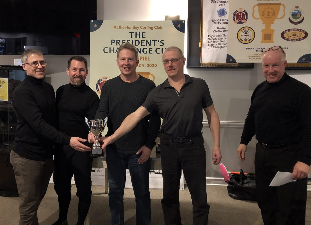 The Men's Champions were Huntley's Men's Champions; Skip - Dave Cormier, Lead -, Don Campbell, Second - Shawn Lynch and Vice - Jim Collings. Courtesy the HCC
