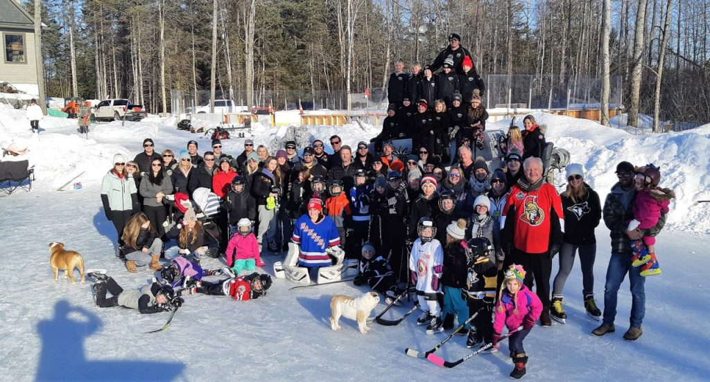 Jarrett Gibbons and his family hosted a Family Day skate on Ottawa's best ODR. More than 75 people came out to enjoy the winter wonderland. Courtesy Jarrett Gibbons