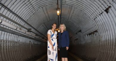 MPP Dr. Merrilee Fullerton poses with Diefenbunker Museum executive director Christine McGuire in the museum's famous blast tunnel. Courtesy MPP Fullerton
