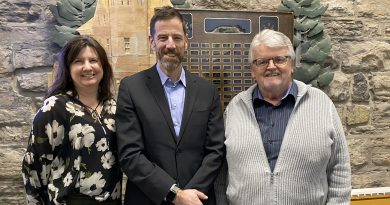 Lyft's General Manager for Ottawa, Rob Woodbridge, centre, and the Town of Arnprior's Mayor Walter Stack, right, worked collaboratively to help expand Lyft's services to Arnprior. Courtesy Lyft