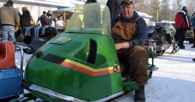 Carleton Place's Dave Blackburn sits on his prototype '79 John Deere, which only earlier this week was really a 1970 Olympic. Photo by Jake Davies