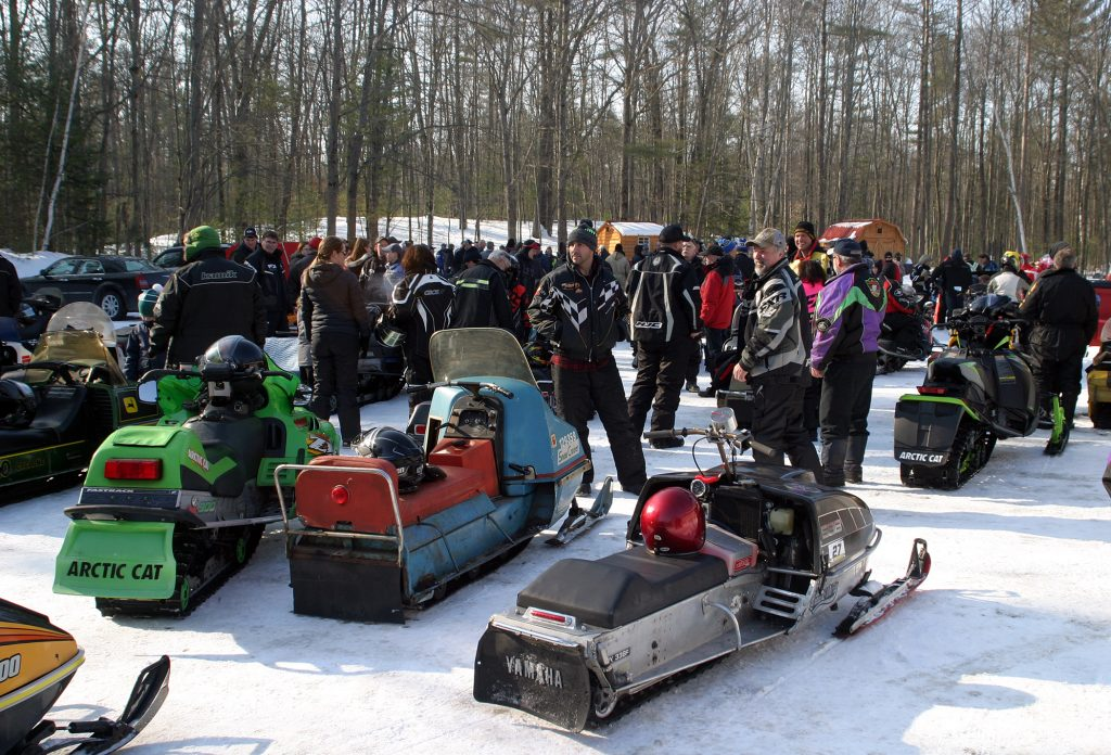 The 14th Old Sled Run brought out old snowmobiles and lots of people. Photo by Jake Davies