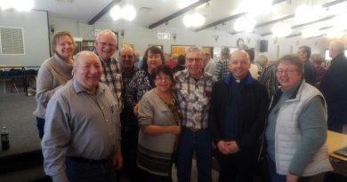 The organizers of the St. Michael's Catholic Church euchre tournament pose for a photo. Photo by Jake Davies