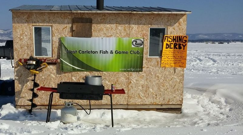 Look for this baner on the ice to participate in the WCFGC Ice Fishing Derby this Saturday. Courtesy the WCFGC