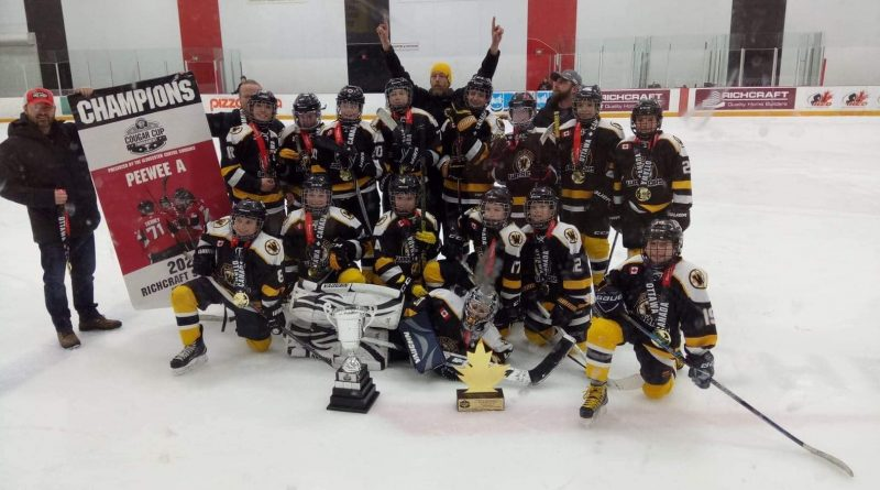 The peewee A West Carleton Warriors won their second tournament of the season on Feb. 9, the Cougar Cup. Courtesy the Warriors