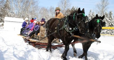 Sleigh rides on the Carp Fairgrounds were one of the many popular events at the newly revived HCA Carp Winter Carnival held last Saturday. Photo by Jake Davies