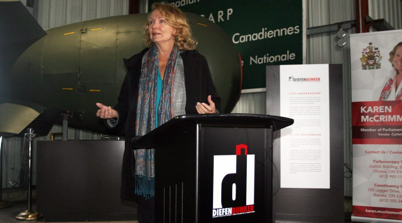 MP Karen McCrimmon, photographed at the Diefenbunker Museum last week, was named chair of the Standing Committee on National Defence last February. Photo by Jake Davies