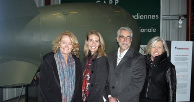 From left, MP Karen McCrimmon, the Diefenbunker's executive director Christine McGuire, board president Bernard Proulx and vice president Susan McLeod pose for a photo after the big announcement. Photo by Jake Davies