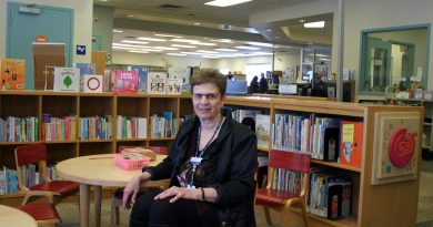West Carleton librarian Lori Fielding retires March 20. She says drop by for some cake. Photo by Jake Davies