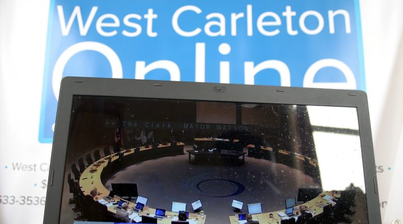 Like all media today, West Carleton Online covered the special council media via video. Photo by Jake Davies