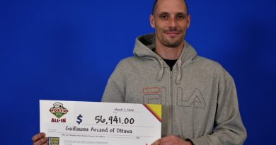 Guillaume Arcand bought his winning Poker Lotto ticket at the Shell gas station on Carp Road. Courtesy OLG