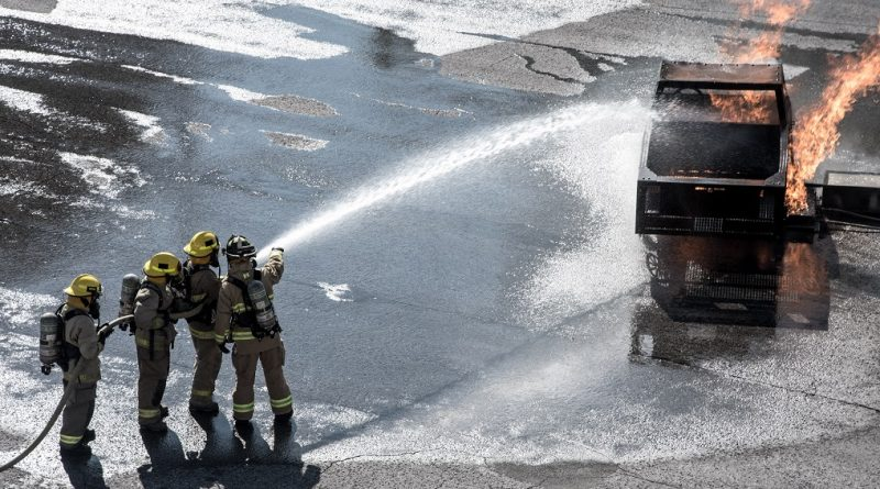 Camp FFIT participants take part in training at the Ottawa Fire Services Training Centre. Courtesy Camp FFIT