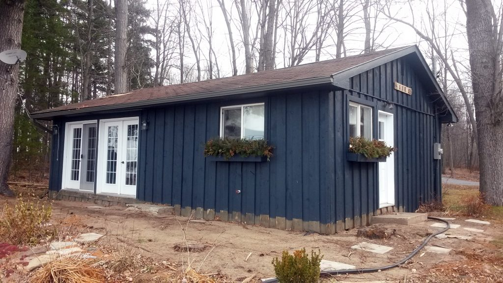 This Horton Township home had a multipoint foundation installed last December. Courtesy Triodetic Multipoint Foundations