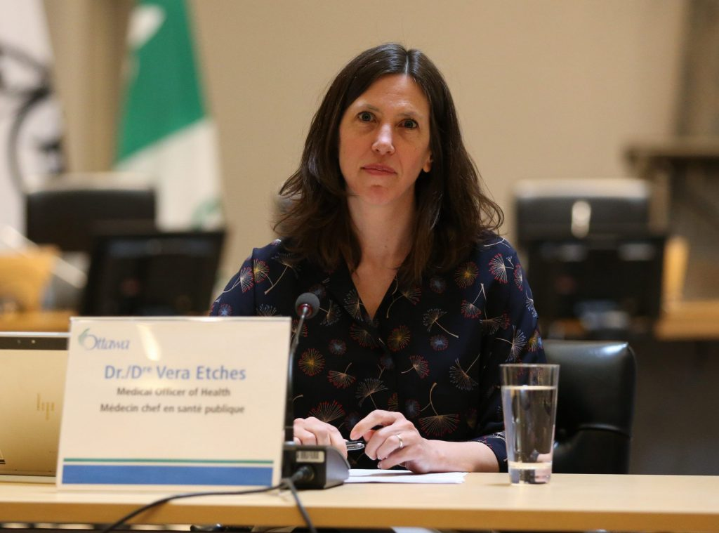 OPH's Dr. Vera Etches gave city council an update on the battle so far and the strategy moving forward. Courtesy City of Ottawa