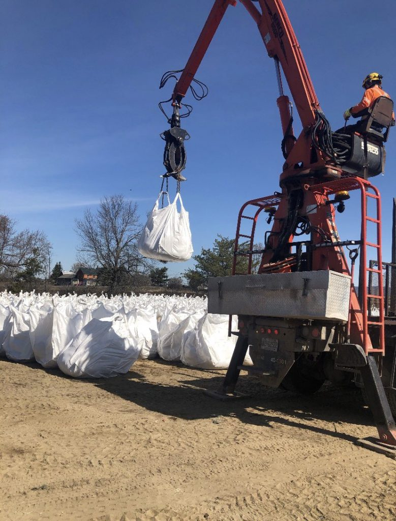 Coun. El-Chantiry watched city  staff prepare for this year's spring freshet. Courtesy El-Chantiry