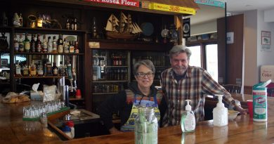 Mary and Rick Charlebois have opened The Point's doors only once during the pandemic so far - to raise money for the West Carleton Food Access Centre. Photo by Jake Davies