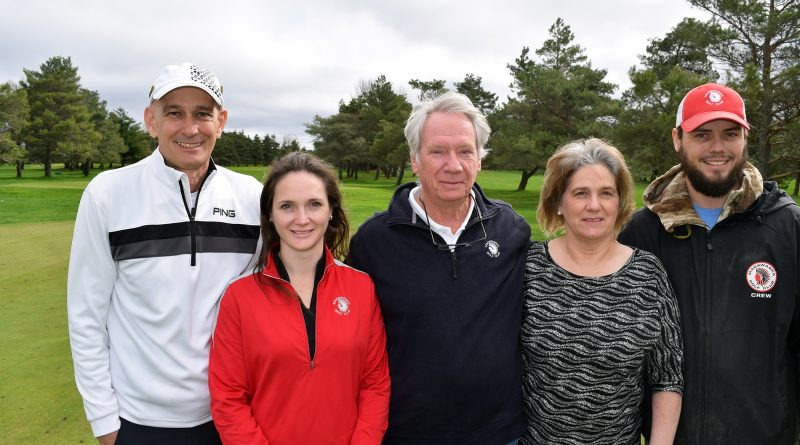 Madawaska Golf owner Rick Munro, centre, thinks golf is the perfect sport in the age of physical distancing (photo from 2017). Photo by Jake Davies