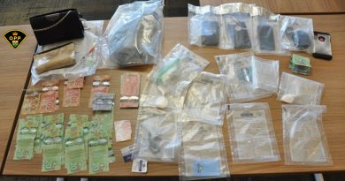 A photo of yesterday's evidence confiscated after a drub bust in Renfrew. Courtesy the OPP
