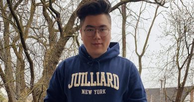 Robert 'Bobby' Thompson isn't just wearing the merch, he hopes to attend the prestigious Juilliard School next fall. Courtesy Robert Thompson