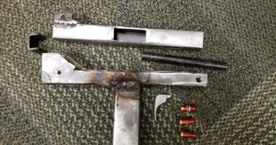 Police allege this is the gun the two charged individuals were trying to manufacture. Courtesy the OPS
