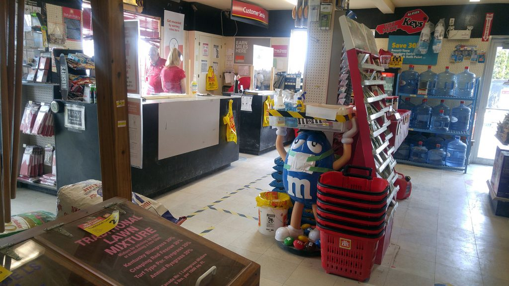 The DEKA Home Building Centre in Dunrobin was steady, except when this photo was taken shortly after 1 p.m., and customers were happy to be back. Photo by Jake Davies
