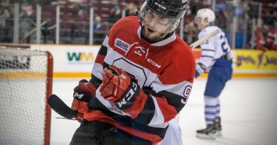 Austen Keating is the first Ottawa 67's player to score at least 300 points and play more than 300 games for the junior team. Courtesy the Ottawa 67's