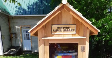 The Kinburn Little Library is now open to the community's bookworms. Courtesy Mary Porritt