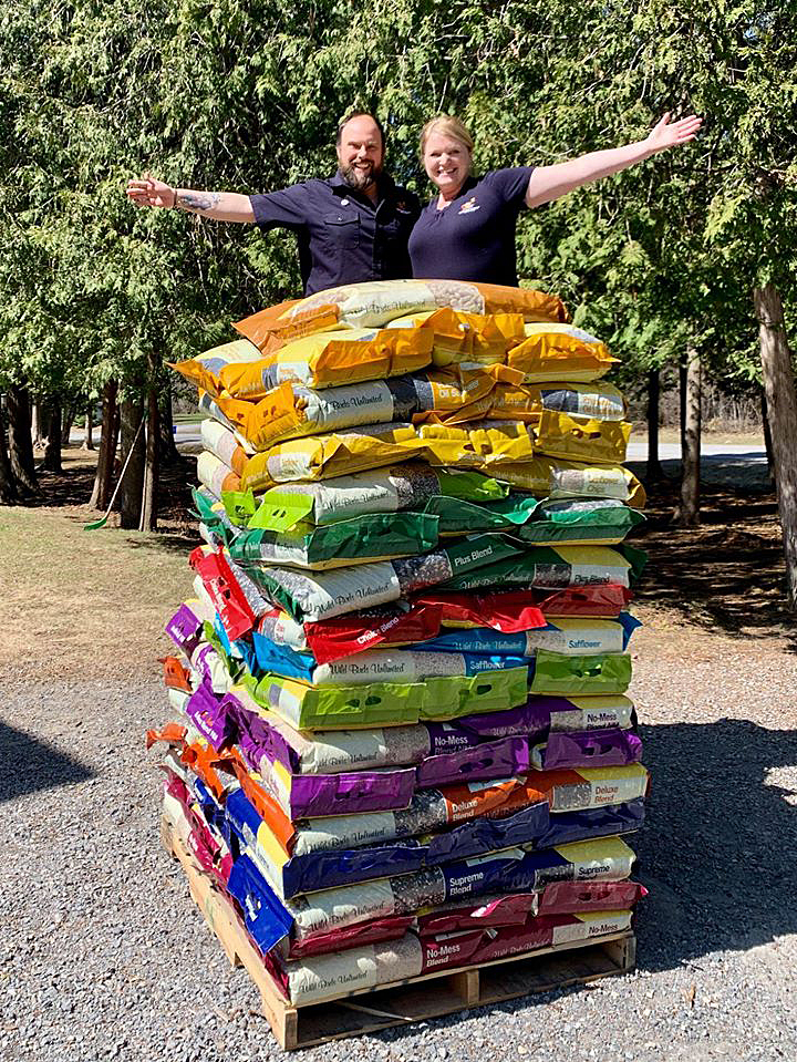 Here's exactly what 2,300 pounds of wild bird seed looks like. Courtesy Kindall Tolmie