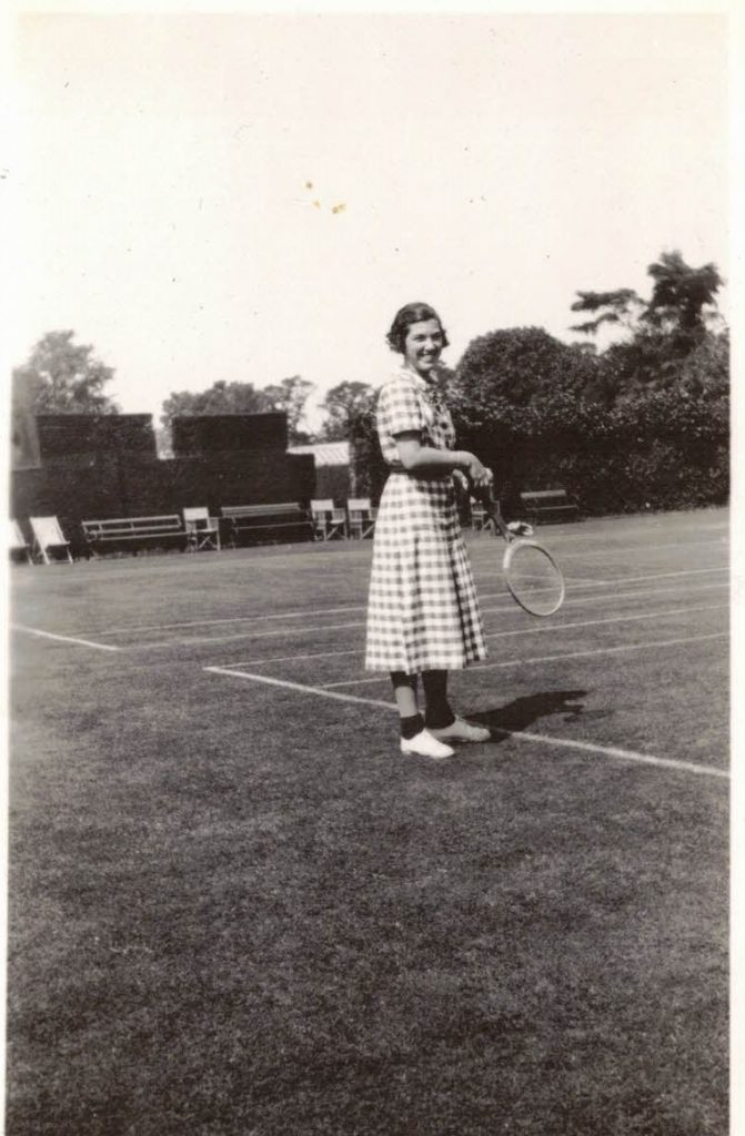 A little tennis at age 17 in 1933. Courtesy Megs Coulbourn