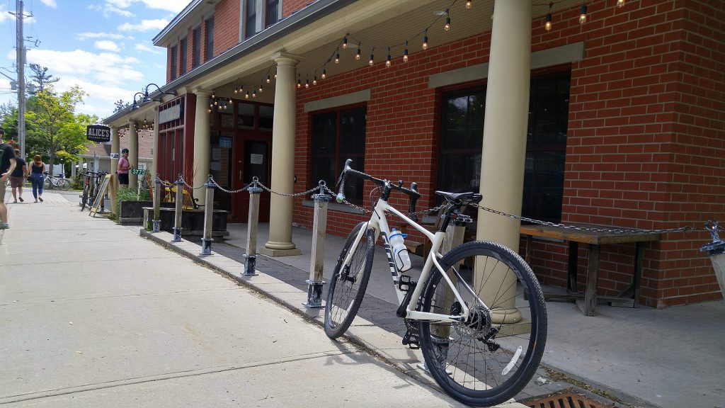 Alice's Village Café has always been a popular spot for weekend cyclists. Photo by Jake Davies