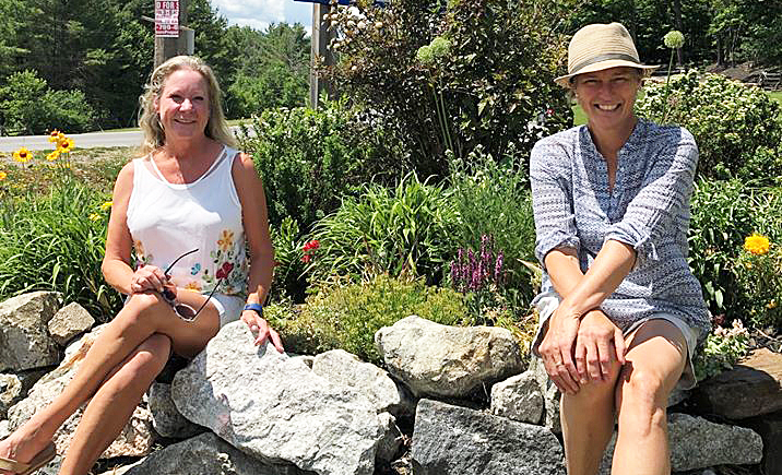 Joanne Douwes, right, will replace Sue Hemstreet as the volunteer gardener for Carp's entrance garden. Hemstreet has volunteered for the job for the last 11 years. Courtesy Amy Baldry